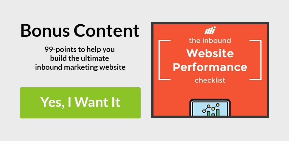 Bonus Content: Free PDF Inbound Website Performance Checklist