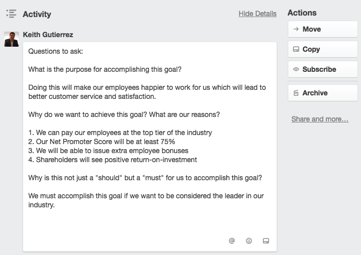 Goal Setting Template: Business Growth